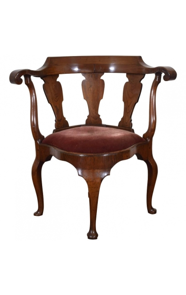 Yew Wood Corner Chair
