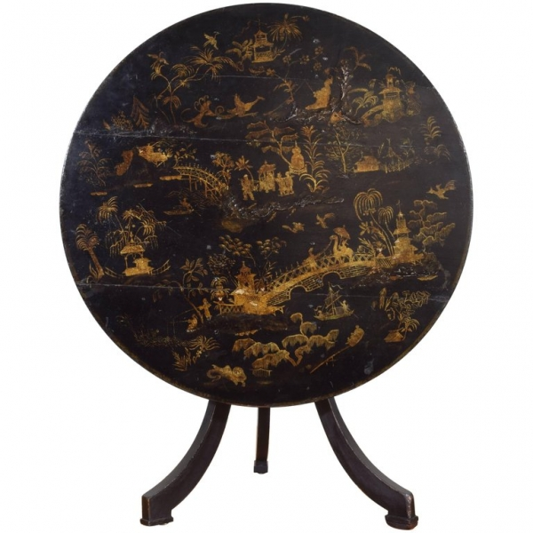 Chinoiserie Tilt-Top Table
