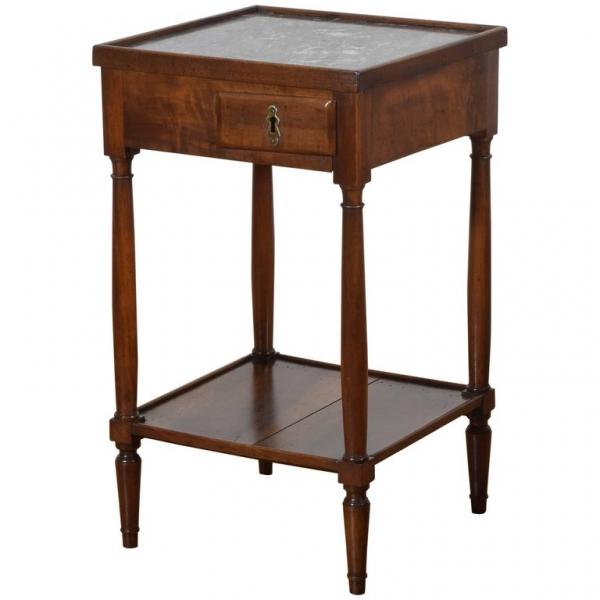 Walnut 1-Drawer Table