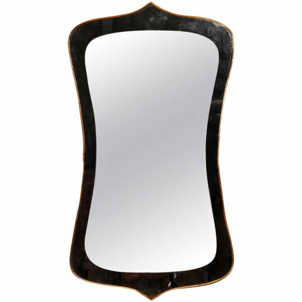Copper Trimmed Wall Mirror