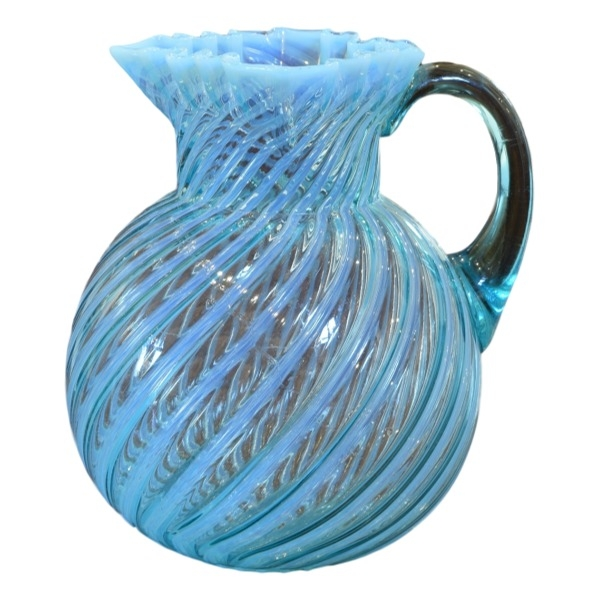 Light Blue Murano Glass Pitcher