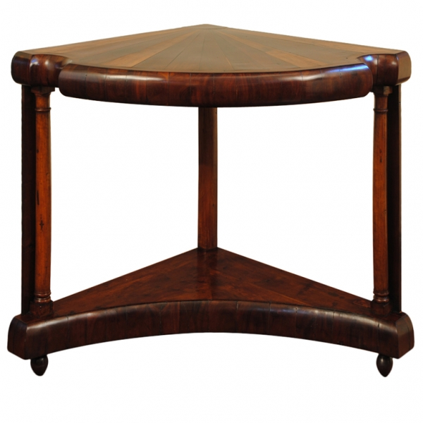 Mahogany and Fruitwood Corner Console