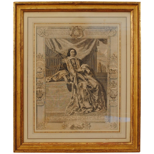 Engraving in a Giltwood Frame