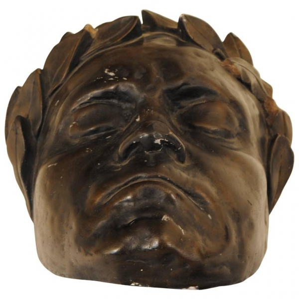 Painted Plaster Death Mask of Beethoven