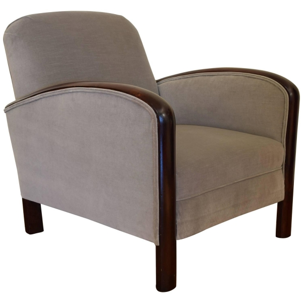 Mahogany and Upholstered Bergere