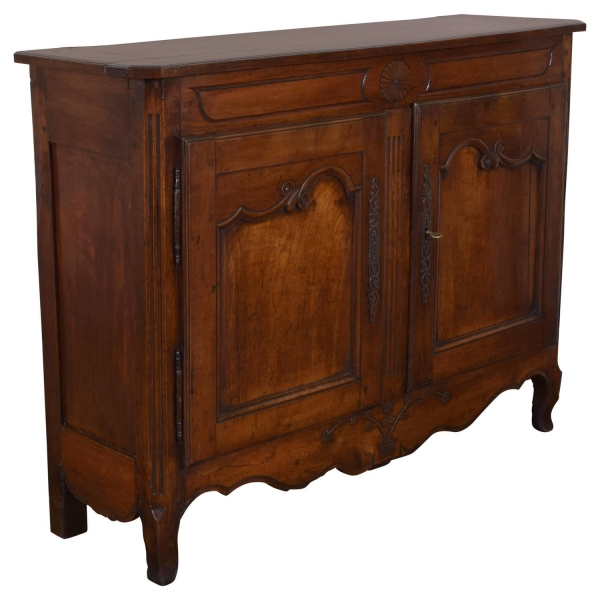 Carved and Paneled Cherrywood Buffet