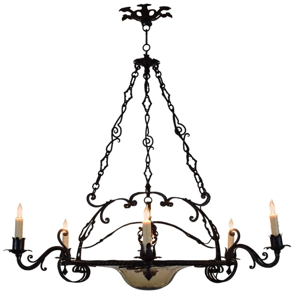 Wrought Iron 7-Light Chandelier