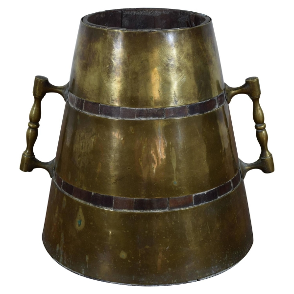 Brass-Mounted and Handled Bucket