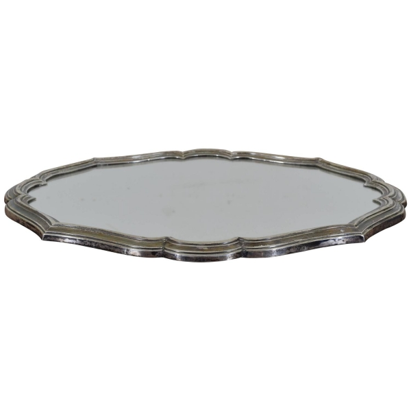 Silver Plated Mirrored Tray