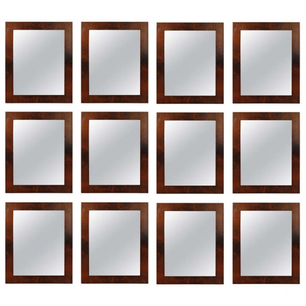 Group of 12 Mahogany Veneer Mirrors also offered by the pair