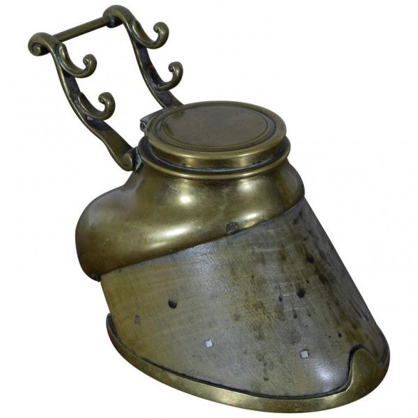 Bronze-Mounted Hoof Inkwell