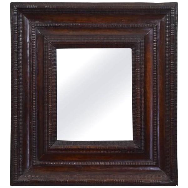 Carved Walnut Mirror