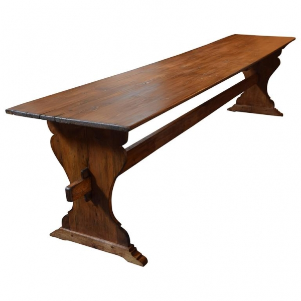 Long Pinewood Hall or Dining Table