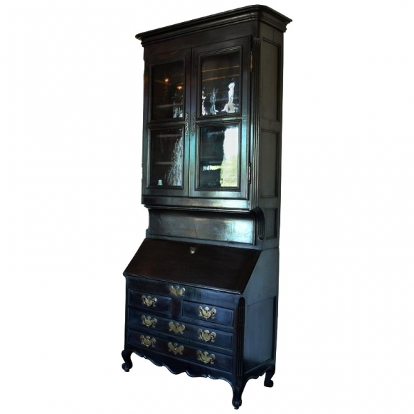 Ebonized Secretary Cabinet