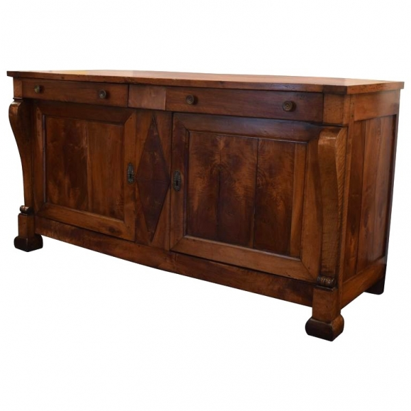 2-Drawer, 2-Door Walnut Buffet