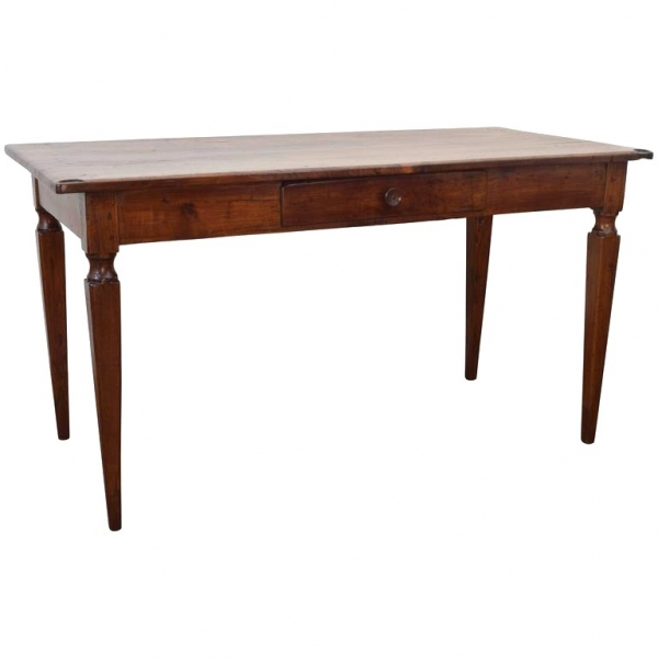 Walnut and Chestnut 1-Drawer Writing Table