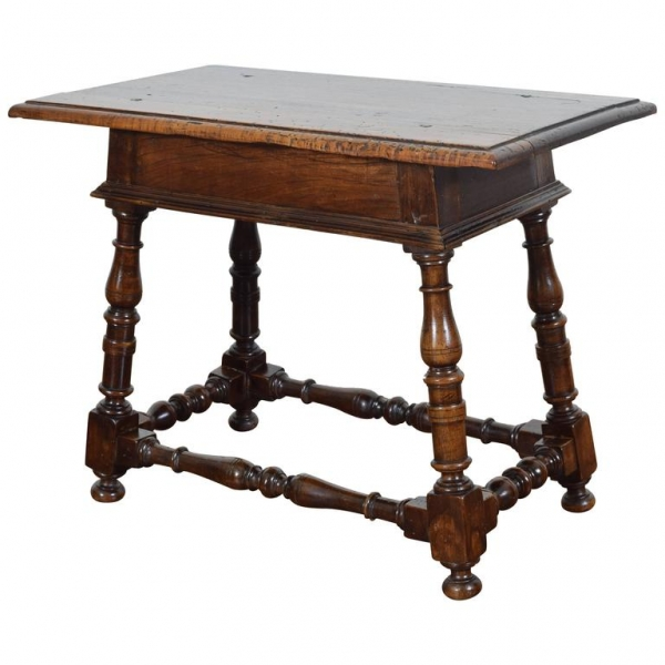 Turned Walnut Side Table