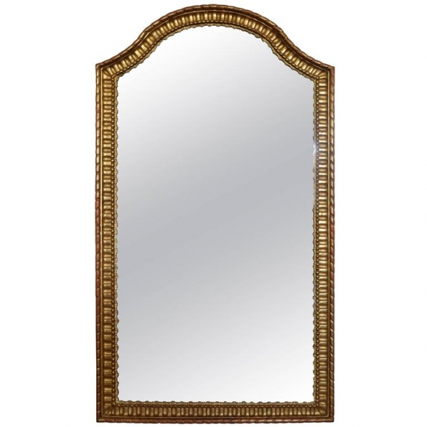 Tall Carved Giltwood Mirror