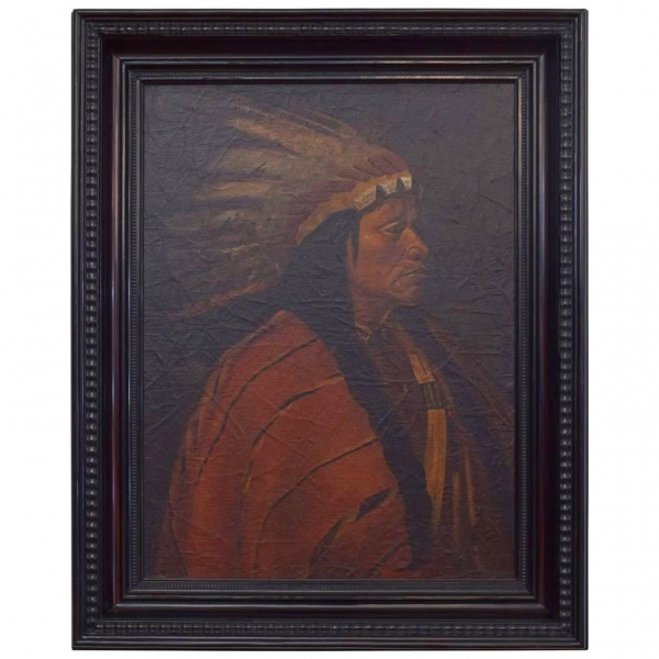 Oil on Canvas, American Indian Chief