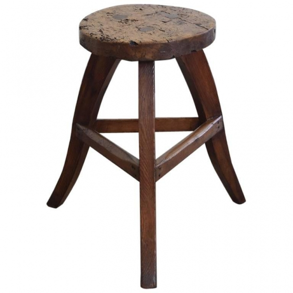 Low Stool or Table in Pinewood