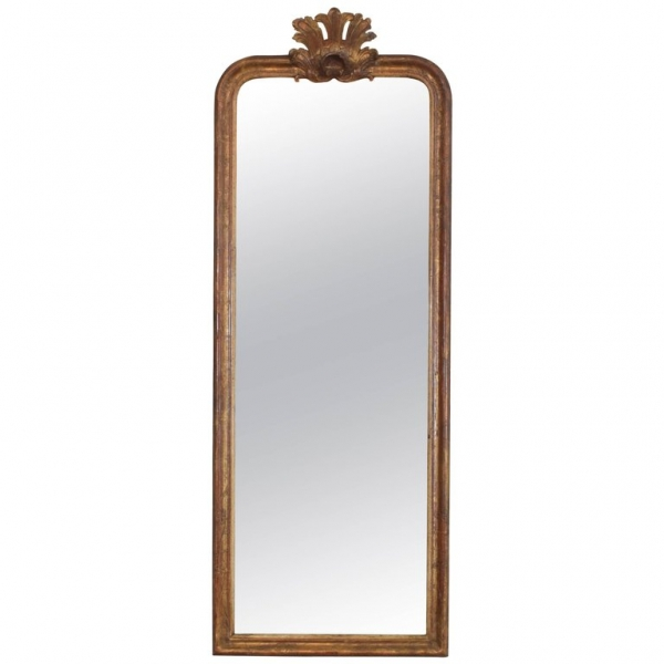Giltwood and Shell Carved Mirror
