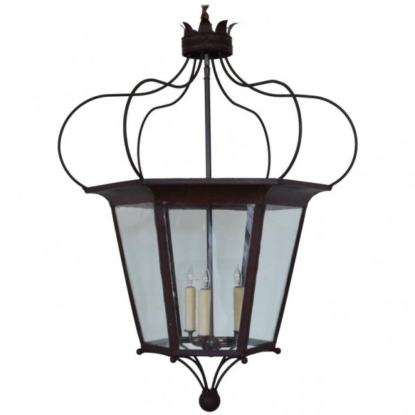 Iron and Metal Hexagonal Tapering Lantern