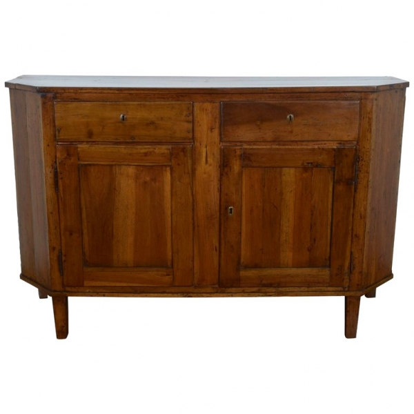 Walnut Scantonata Credenza, Two over Two