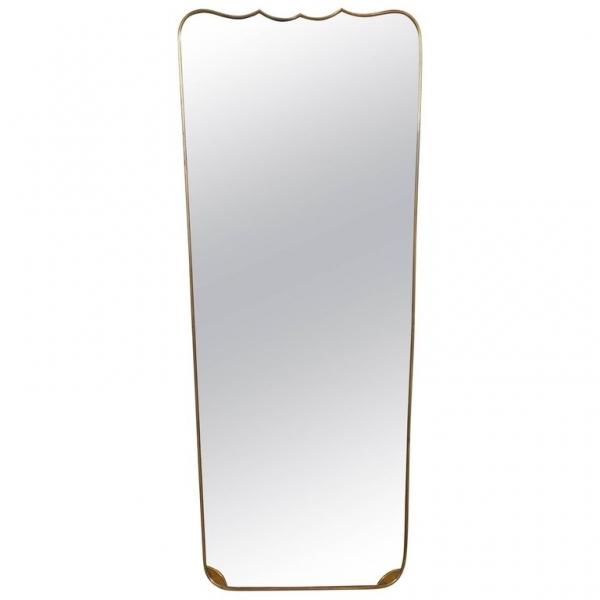 Tall Brass Mirror