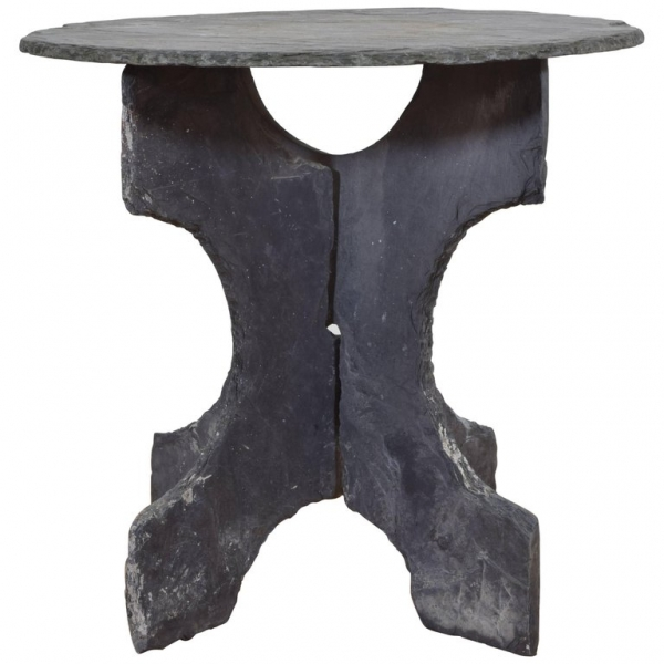 Slate Garden Table of 3-Piece Construction