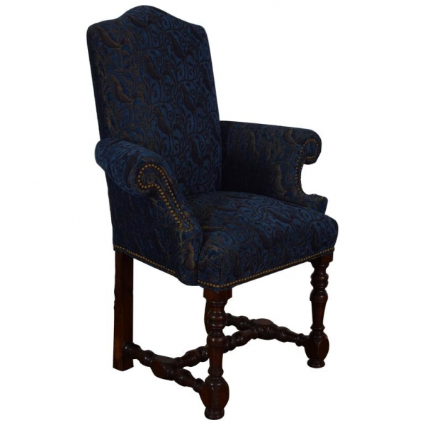 Walnut and Upholstered Bergere