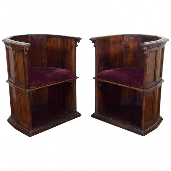 "Rare Pair of Walnut ""Scranni"" Chairs"