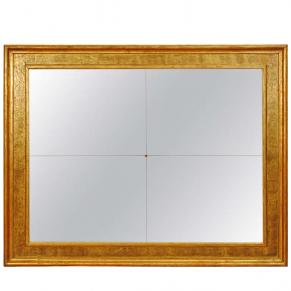 "Massive Copper Gilt Frame, Later ""Antique"" Mirrorplates"
