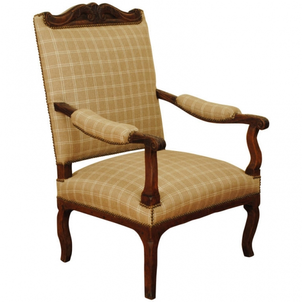 Carved Elmwood Fauteuil