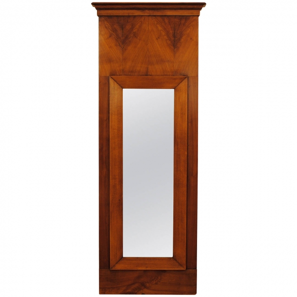 Cherrywood Veneered Slender Wall Mirror