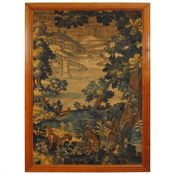 Large Framed Tapestry Fragment