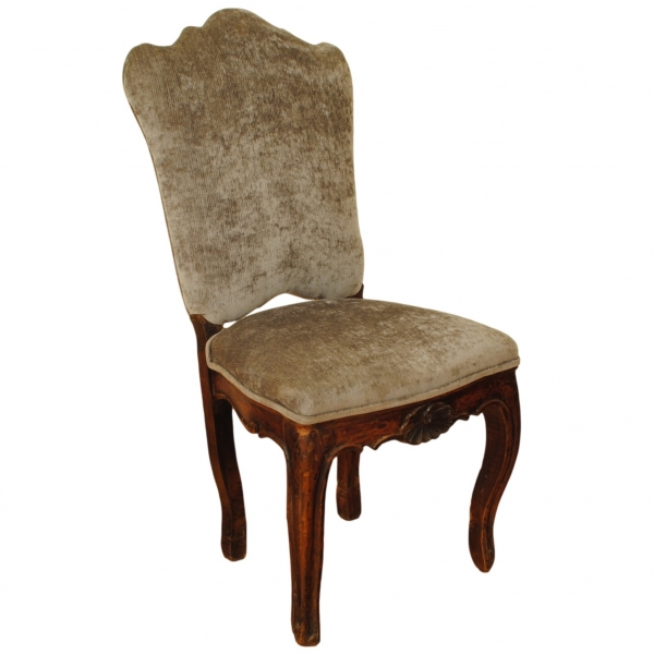 Carved Walnut Dining Chair