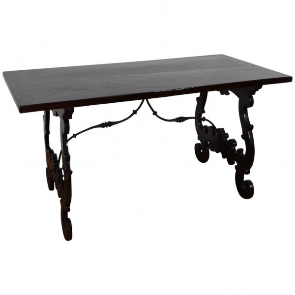 Macassar Ebony and Ebonized Walnut Center Table