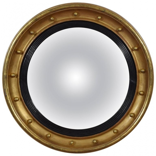 Giltwood Convex Mirror, Original Mirrorplate