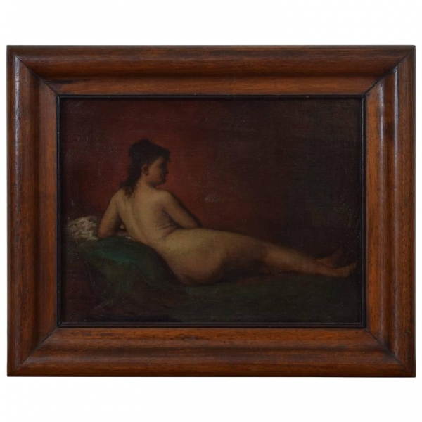 Oil on Canvas, Reclining Nude in Profile