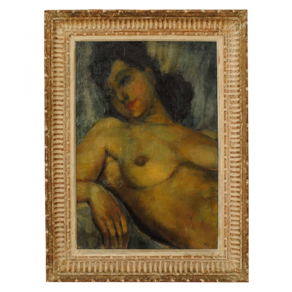 Oil on Canvas, Reclining Nude, signed Basilevsky 43'