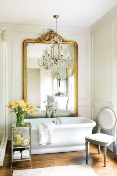 Extraordinary and Massive Giltwood Mirror